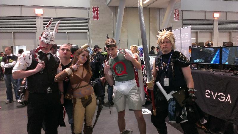 Splicer, Lara Croft, Quail Man, and Derp Cloud