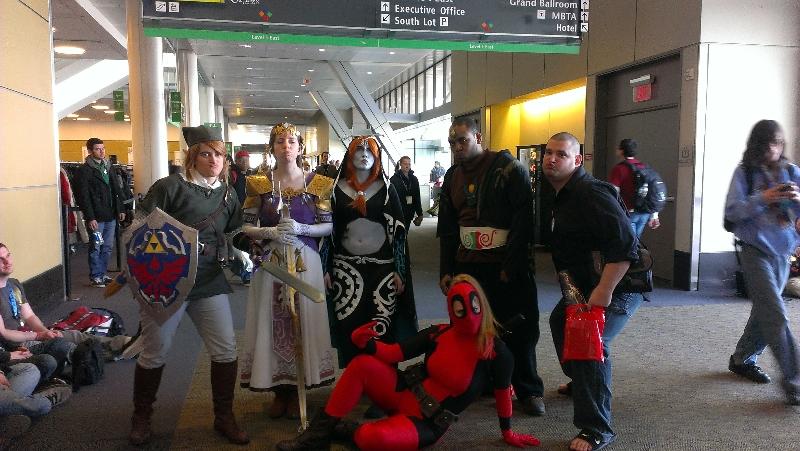 Zelda people and a Deadpool